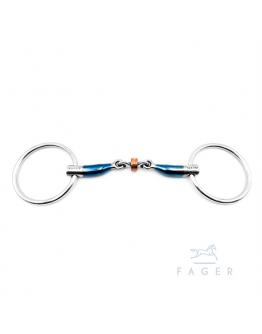 JULIA - Fagers Tongue Relief Copper Roller Loose Rings Bit (Bett som varit uthyrt)