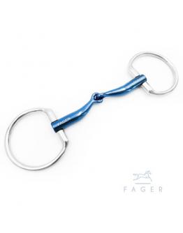 Fagers Titanium FSS™ Tongue relief Eggbutts bit - FANNY (Bett som varit uthyrt)