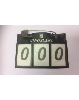 Kingsland Nummerlapp Med Säkerhetsnål Marin