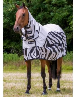 Bucas Buzz-Off Rain Full Neck Zebra (155, Zebra)