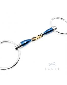 Fagers French Link 45° Loose rings Bit ALEXANDER (Bett som varit uthyrt)