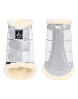 SD Design Sparkle Tendon Boots 4-Pack (Cob, Silver)