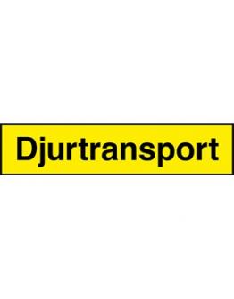 Skylt Djurtransport