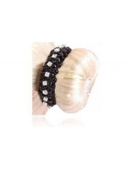 SD Design hårsnodd pärla och kristall
