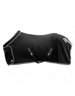 Fleecetäcke Exklusiv med krage svart HKM Sport
