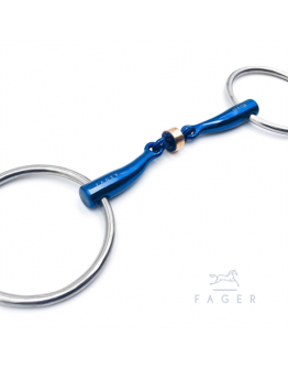 Fagers Titanium Anatomic Copper Roller Loose Rings bit - SALLY (Bett som varit uthyrt)