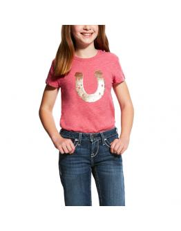 Sequin Shoe Tee T-Shirt Junior (L, Rosa)