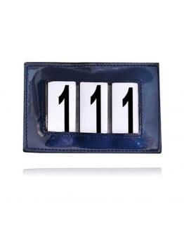 Tävlingsnummerlapp blå