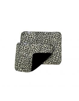 Mias RS Ridpaddar snö/leopard 34x28cm