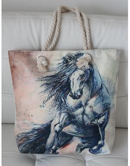 Canvasväska Stegrande häst