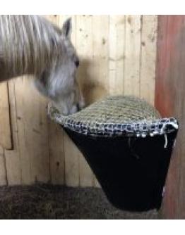 Hönät SlowFeeding Hörnnät till plastbytta (Häst, 5 cm)