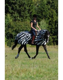 Bucas Buzz-Off Ridtäcke Zebra 145 cm