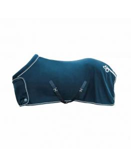 Fleecetäcke Exklusiv med krage Marinblå HKM Sport