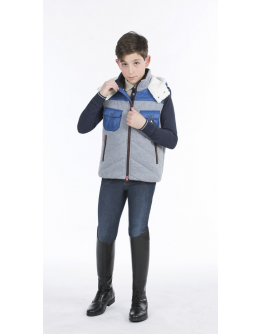 Equiline Giulio padded vest junoir (10/11 år, Blå)
