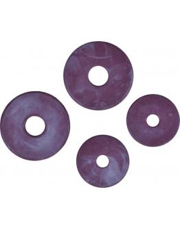 Gummibettskivor (9cm, Brun)
