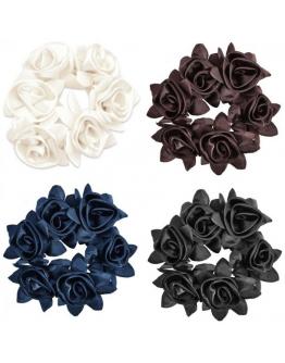Diamond rose scrunchie