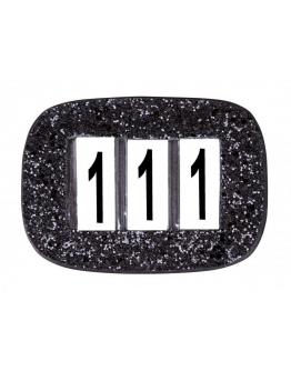 SD Design Nummerhållare I Glitter (Svart)