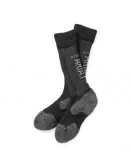 Ariat Alpacka Wool Performance Socks (M/L, Svart/Grå)