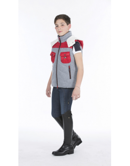Equiline Giulio padded vest junoir (10/11 år, Röd)