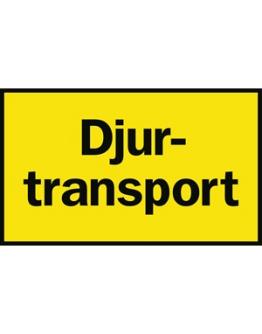 Skylt Djurtransport liggande, 500 x 300 mm