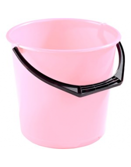 Hink plast transparent rosa